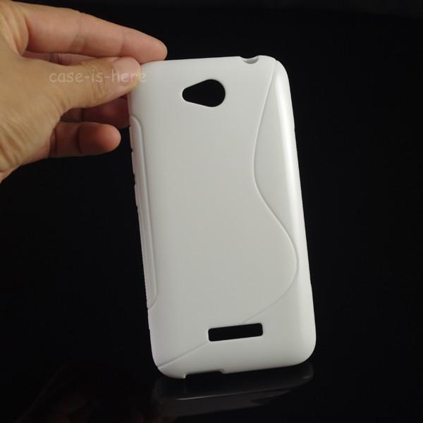Чехол для HTC Desire 616 белый бампер
