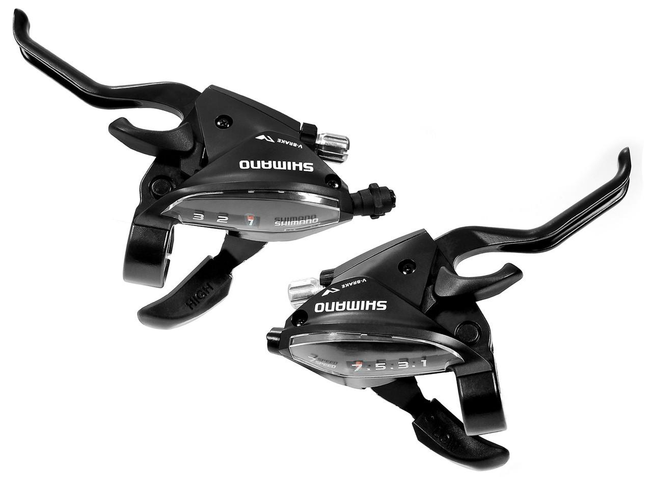 Моноблоки Shimano Altus ST-EF510, пара 3+7 скоростей +тросики