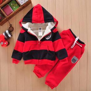 Детский костюм тройка желтый зеленый красный , фото 2