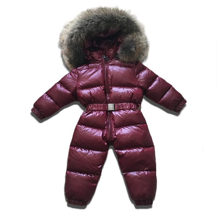 Детский зимний комбинезон Sabbi цельный бордовый