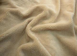 Мех искусственный овчина темно-бежевая 450г/м.кв
