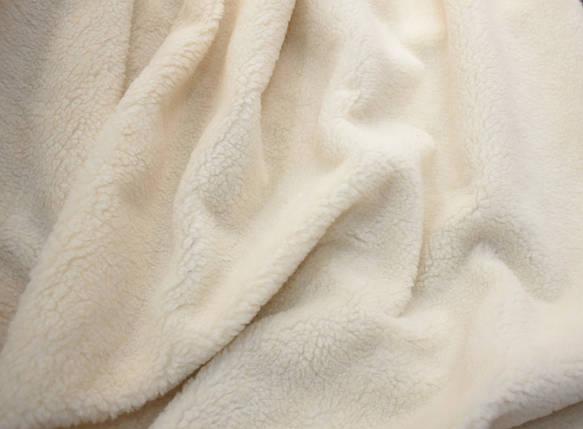 Мех искусственный овчина светло-бежевая 450г/м.кв, фото 2
