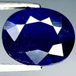 4.70 кт Природный синий сапфир овал