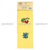Набор из вафельных полотенец Сувенирных с вышивкой (2 шт.) ТМ Ярослав в ассортименте, фото 3