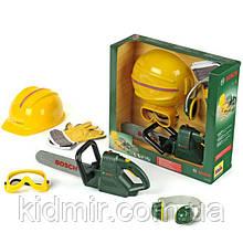 Набір інструментів з бензопилою, каскою, рукавицями, окулярами BOSCH Klein 8525