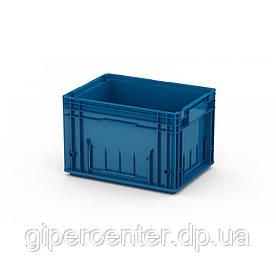 Пластиковый ящик RL-KLT 4280 с гладким дном (396х297х280 мм) голубой