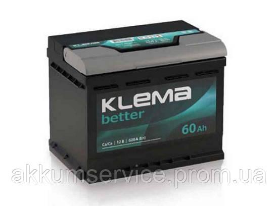 Аккумулятор автомобильный Klema Better 60AH R+ 600А