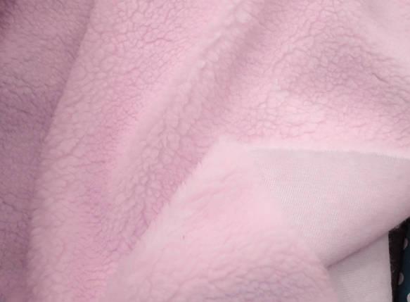 Мех искусственный овчина розовая 450г/м.кв, фото 2