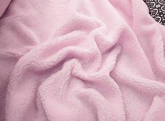 Мех искусственный овчина розовая 450г/м.кв