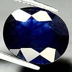 8.23 кт Природный синий сапфир овал