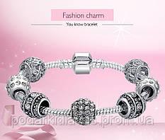 """Шарм браслет """"Пандора""""-  ювелирные украшения на каждый день"""