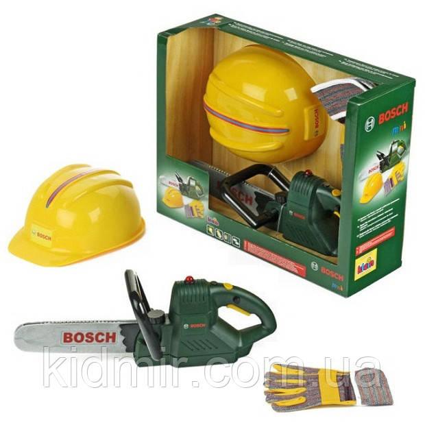 Набор инструментов с бензопилой и каской BOSCH Klein 8435