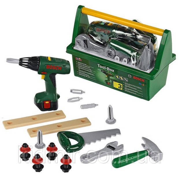 Набір інструментів з шуруповертом в ящику BOSCH Klein 8429