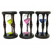 Часы песочные в дереве (6 мин) (16.5х11х11 см) 21861