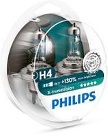Лампа галогенная (H4) PHILIPS 12342XVS2 (+130%)