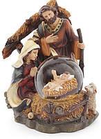 """Водяной шар  """"Рождественский вертеп"""" 13,5х16,5см"""