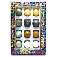 Каменные шары набор (н-р/12шт)(d-3,5 см)(27х18х3,5 см) 26500