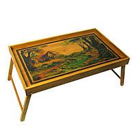 Столик для завтрака в постель бамбук (54х23х33 см) 27935
