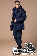 Куртка с температурным датчиком зимняя Braggart Dress Code - 12481E темно-синяя