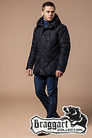 Куртка с температурным датчиком зимняя Braggart Dress Code - 12481T черная