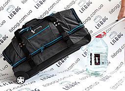 Дорожная сумка Sky Travel двухуровневая Большая сумка на колесах XL (70 л) Темно-серая (67*34*32)