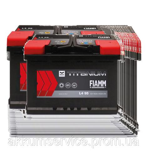 Аккумулятор автомобильный Fiamm Black Titanium 95AH R+ 850А (короткий)