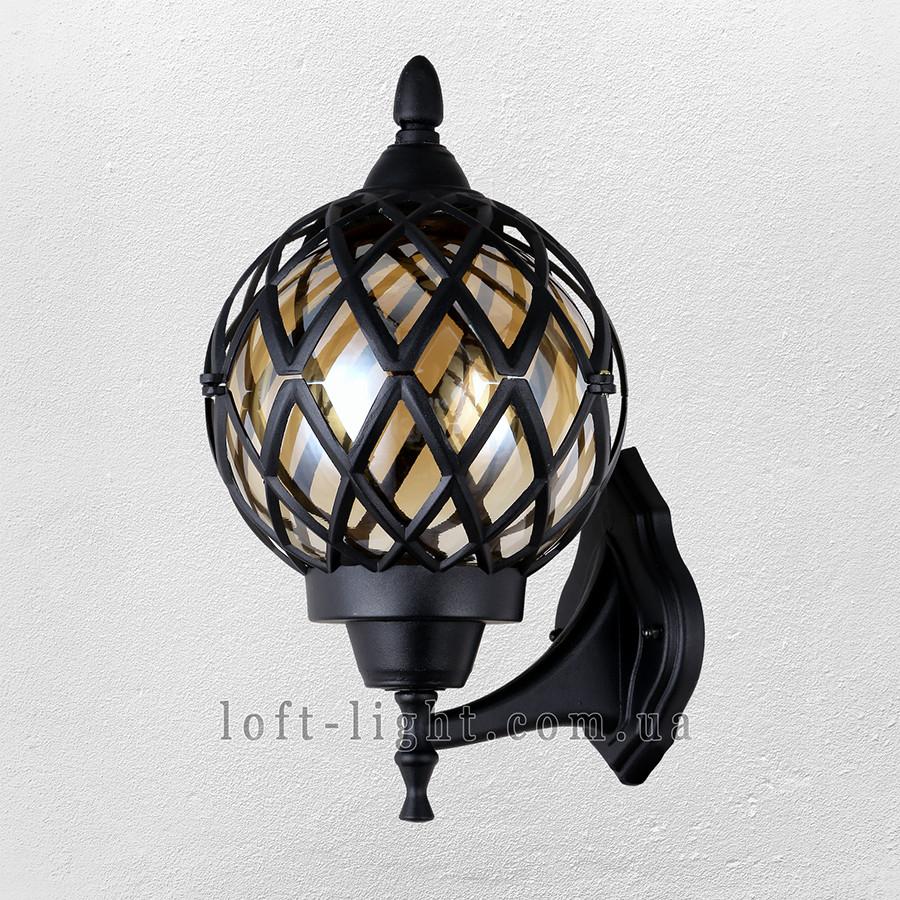 Садово-парковый светильник , бра ( модель  67-V0104-M-WL BK )