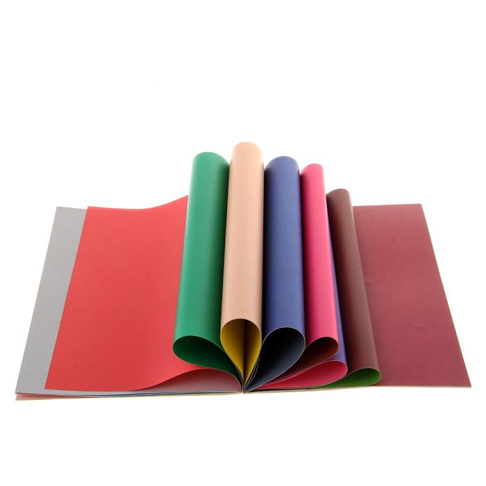 Набор цветной бумаги А4, 10 цветов, 20 листов, двусторонняя, Фолдер, 689509