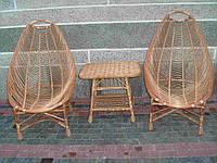 Набор плетеной мебели 2 кресла для отдыха, маленький столик