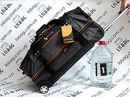 Дорожная сумка SkyTravel двухуровневая Большая сумка на колесах XL (70 л) Темно-серая (67*34*32)