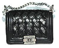 Женская сумка клатч Chanel Boy (Шанель Бой) 9802 черная