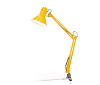 Лампа настольная на струбцыне E27 LMN093 жёлтая