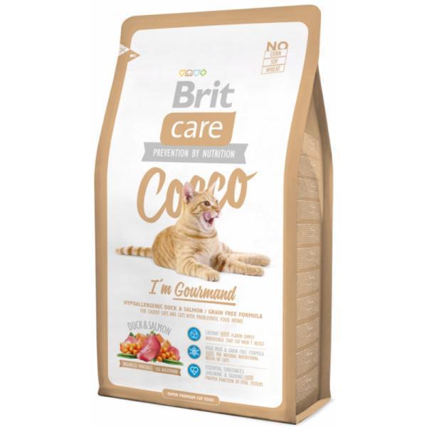 Brit Care Cat Cocco с уткой и лососем для привередливых кошек с чувств
