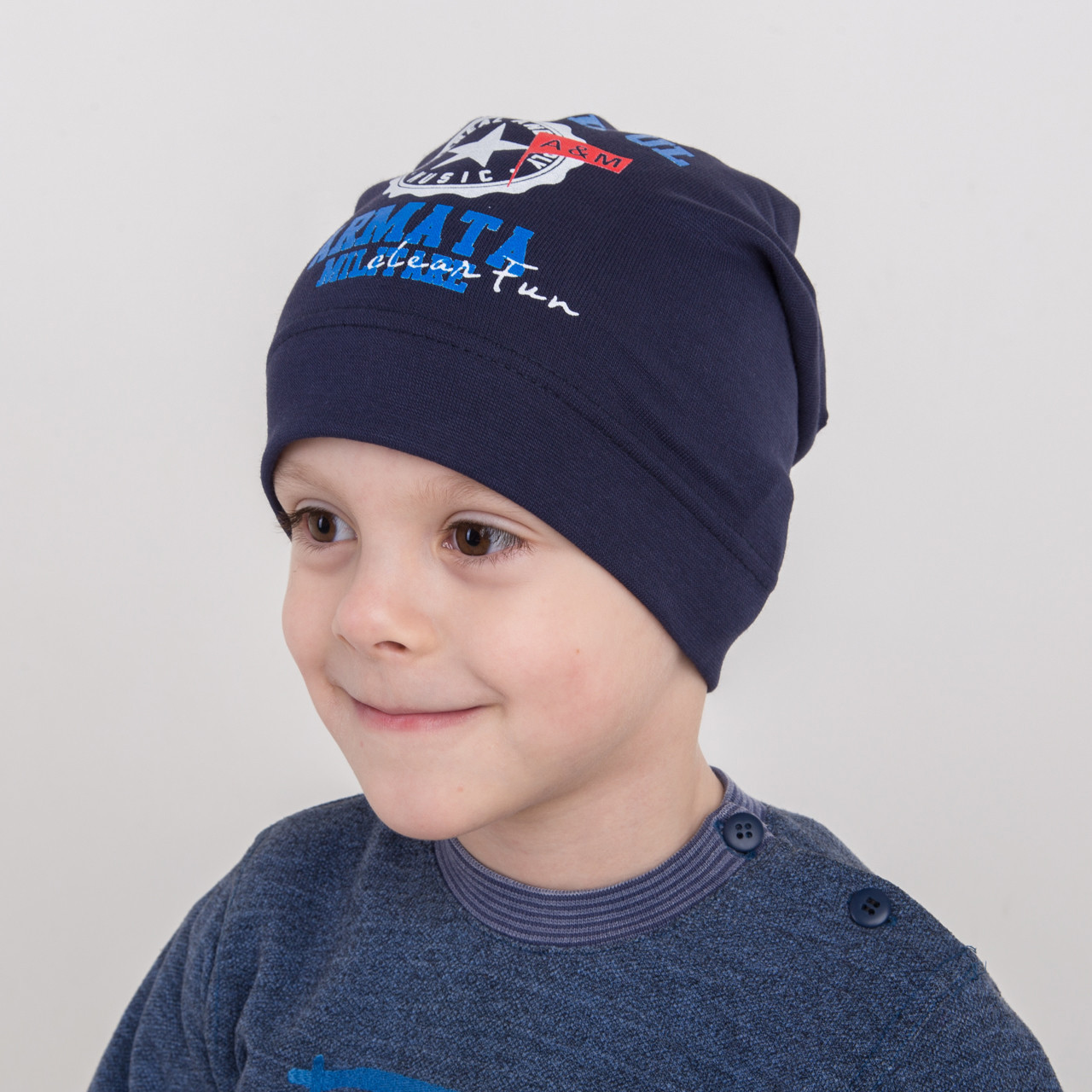 Весенняя хлопковая шапка на мальчика оптом - Armata - Артикул 2170
