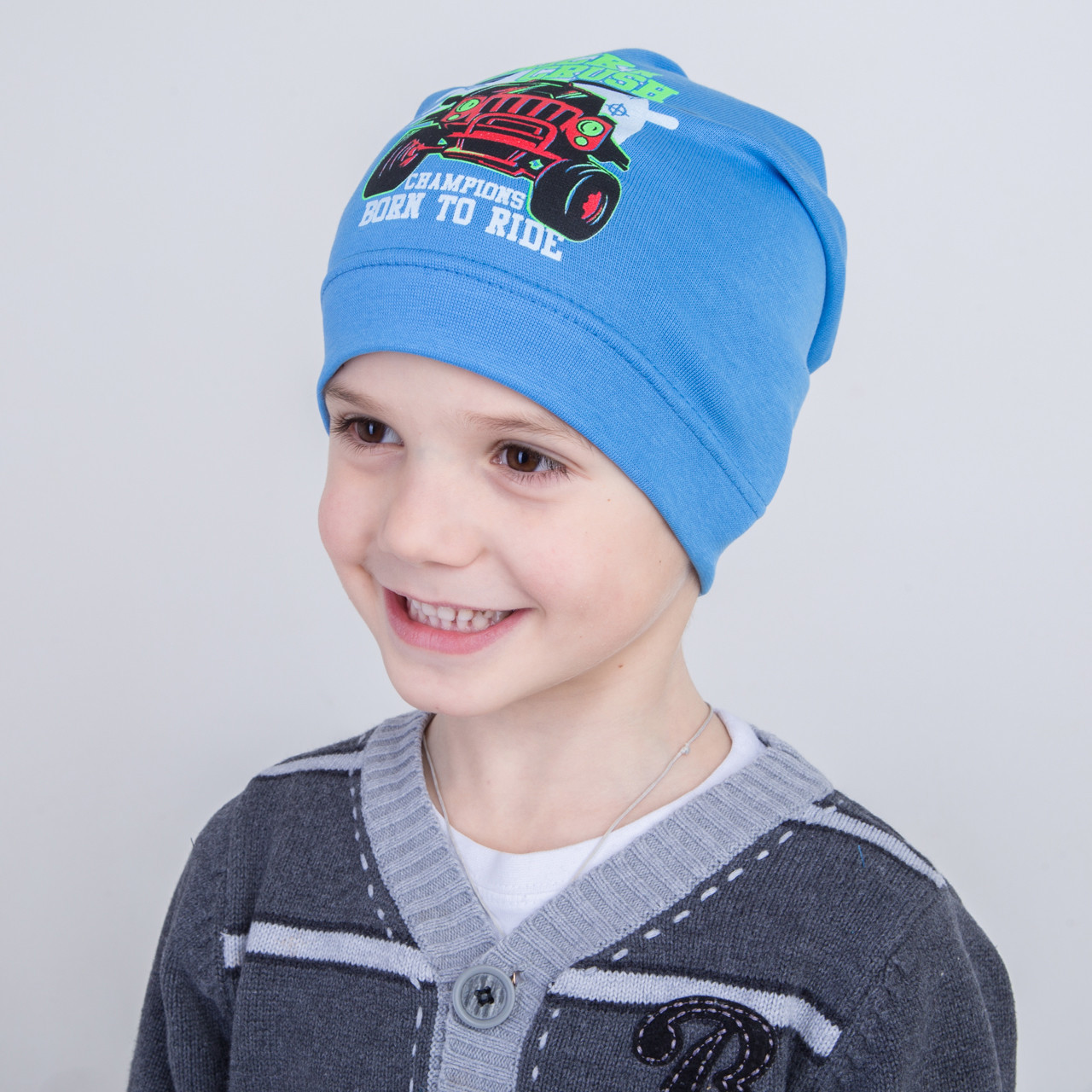 Весенняя шапка для мальчика на весну - Хамер - Артикул 2249