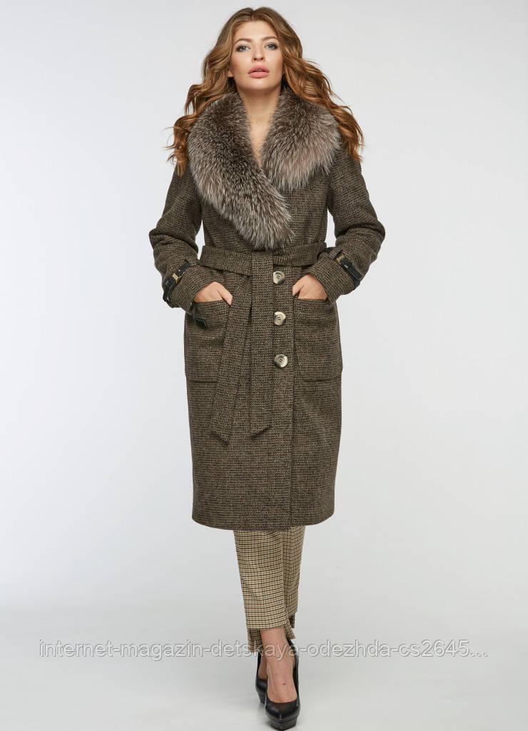 Пальто зимнее женское стильное. Код 5083-18 - интернет-магазин La-compra 421c2dcb5661b