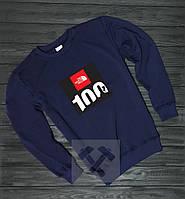 Спортивный свитшот, кофта, реглан The North Face (темно-синий),Реплика