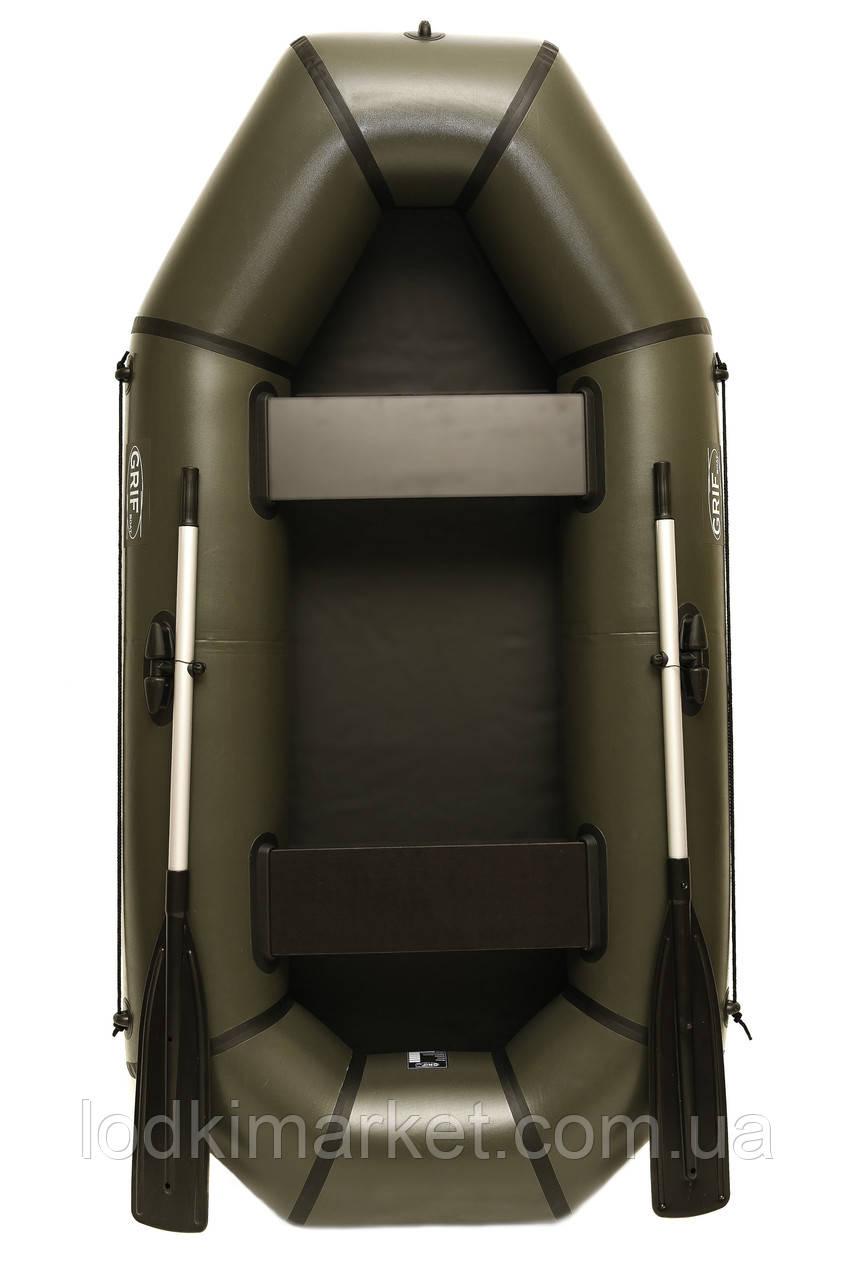 Двухместная надувная Лодка ПВХ Grif boat GL-240L