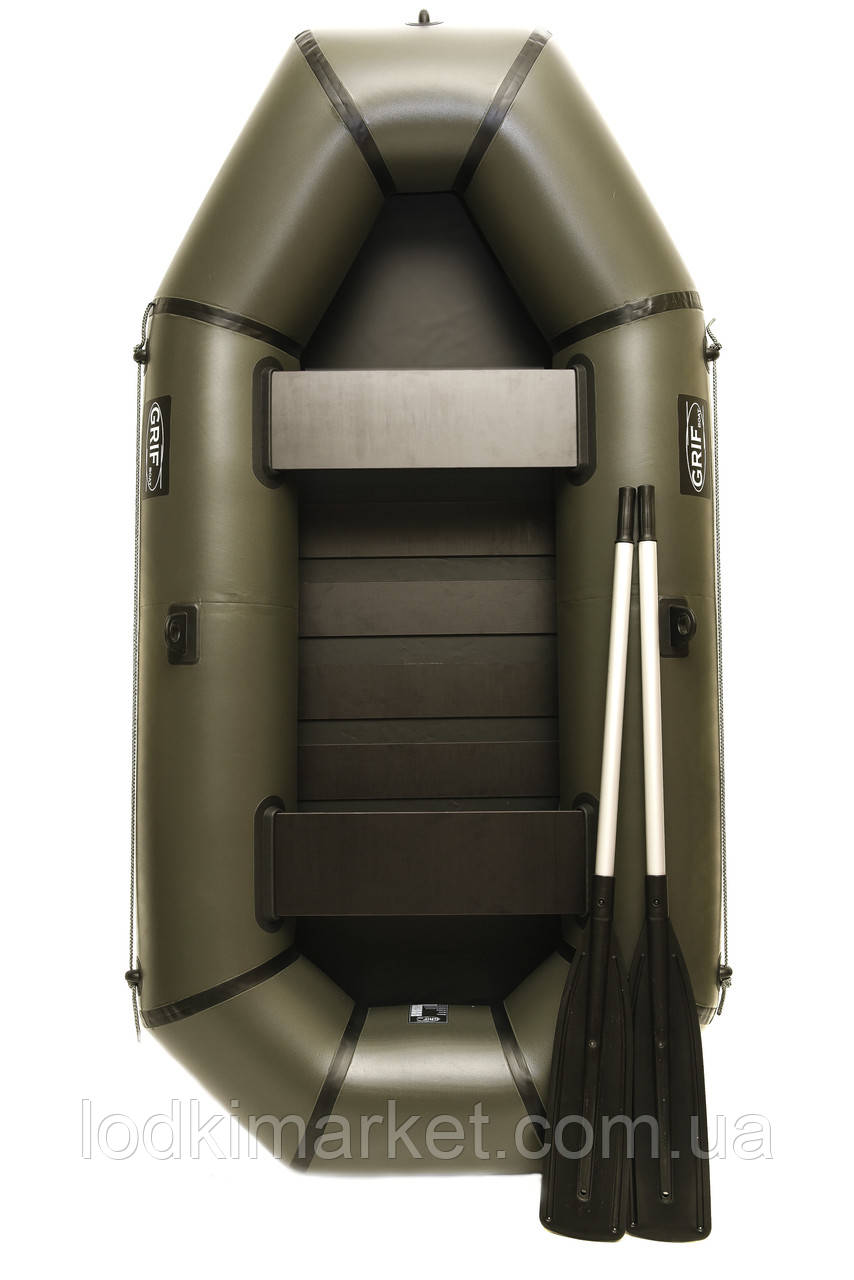Двухместная надувная Лодка ПВХ Grif boat GL-240S