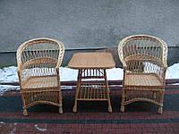 Набор плетеной мебели два кресла и столик