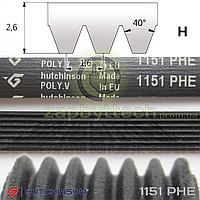 Ремень 7-и ручейковый 1151 PHE Hutchinson POLY.V (черный), Whirlpool 481281729142, 481935821009