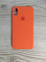 Silicone Case iPhone X Orange (оранжевый), фото 1