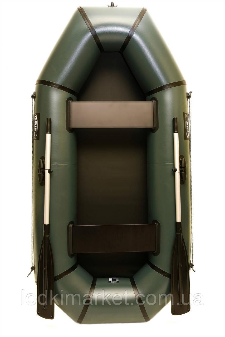 Двухместная надувная Лодка ПВХ Grif boat GH-240L