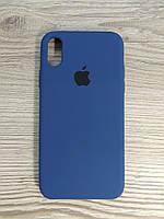 Silicone Case iPhone X Blue Cobalt (синий), фото 1
