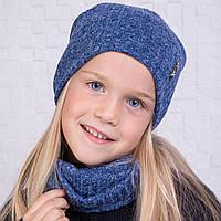 Вязанный комплект из шапки и хомута для девочки - Артикул 2116, фото 1