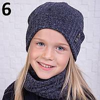 Вязанный комплект из шапки и хомута для девочки - Артикул 2116 6