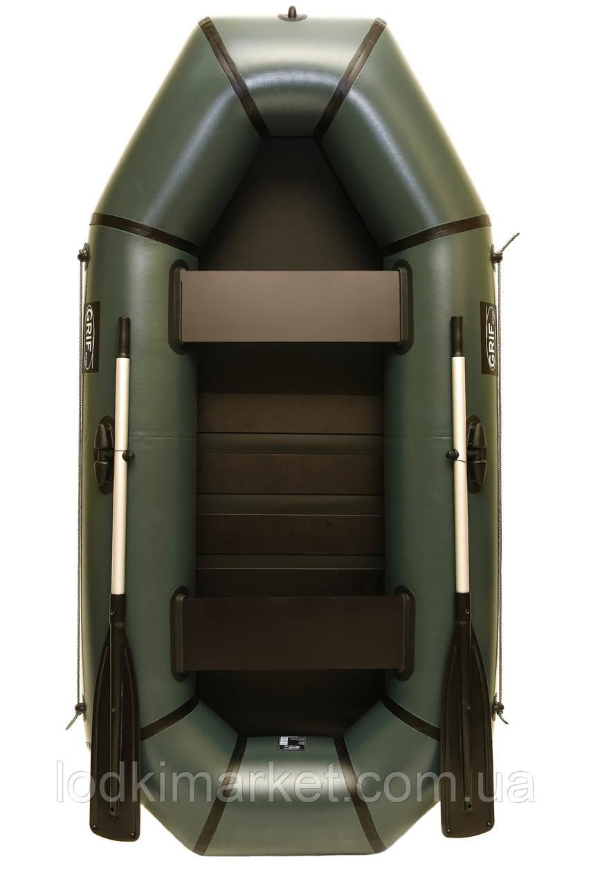 Двухместная надувная Лодка ПВХ Grif boat GH-240LS