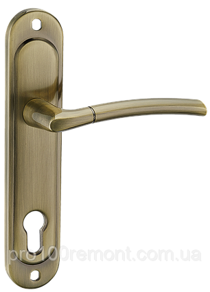 Ручка на планке A-1210-8 AB-старая бронза,SN/CP-мативий никель/полирований хром, фото 2