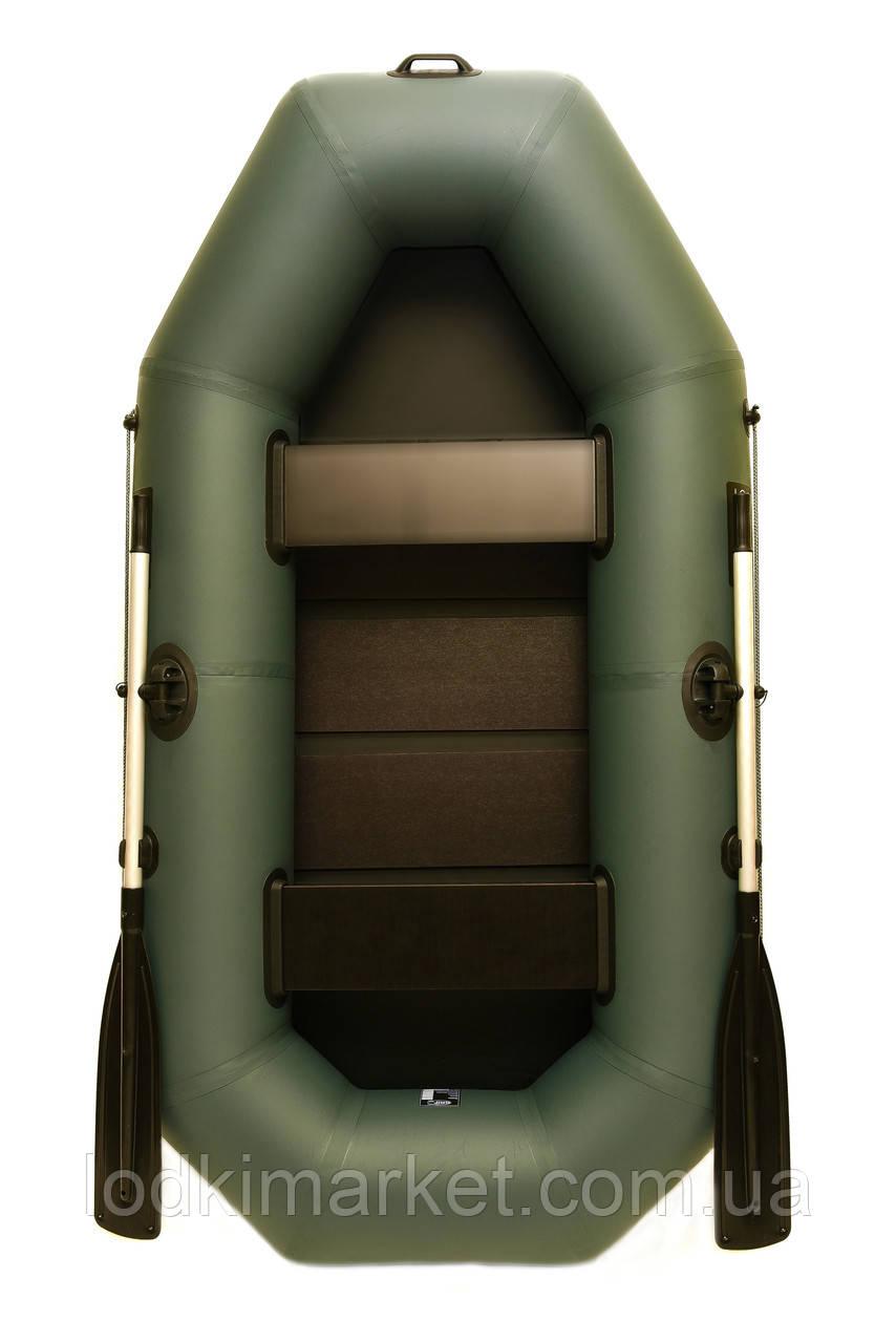 Двухместная надувная лодка ПВХ Grif boat G-240
