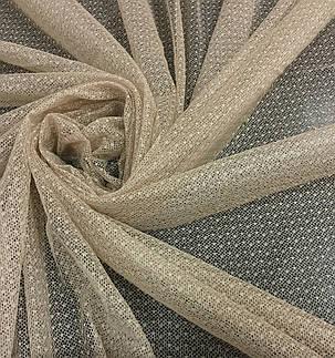 Тюль гипюр Соренто Темный Беж, готовая тюль 3м, фото 2